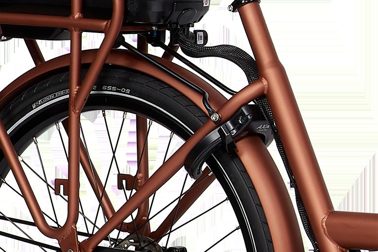 E-Dolly Bakfiets MaxDrive 600Wh Blazing Copper