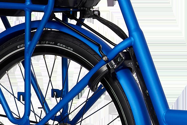 E-Dolly Bakfiets MaxDrive 600Wh Summer Blue