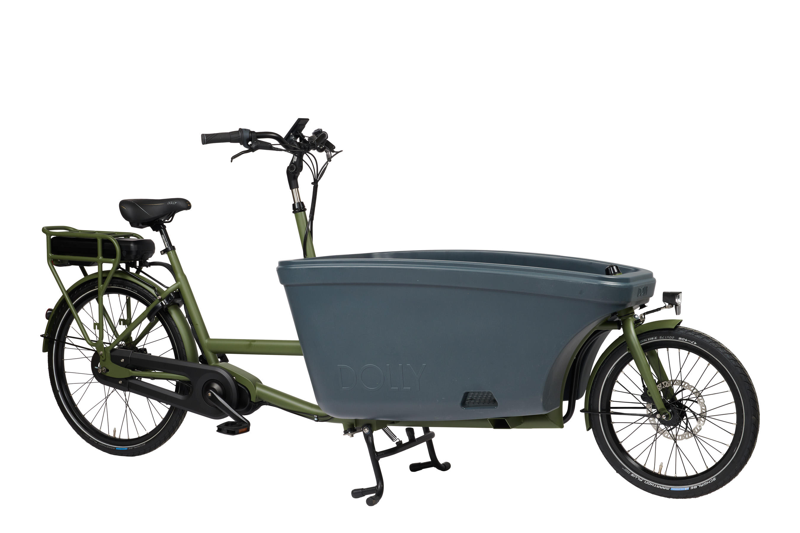 E-Dolly Bakfiets MaxDrive 600Wh Army Green