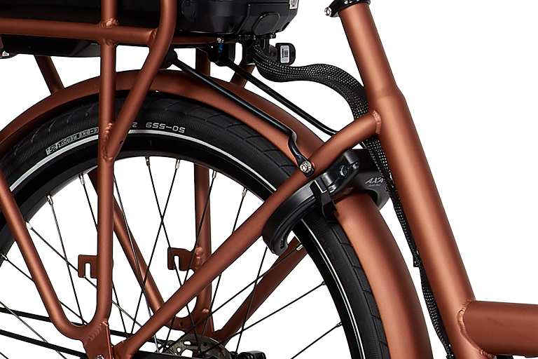 E-Dolly Bakfiets MaxDrive 600Wh Blazing Copper Mat